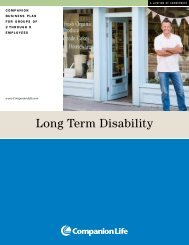 Long Term Disability (LTD) - Companion Life