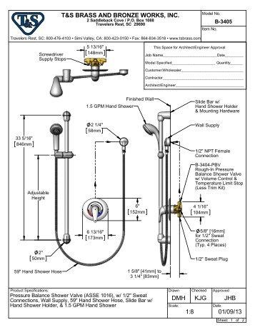 B-3405 - Specification - T&S Brass