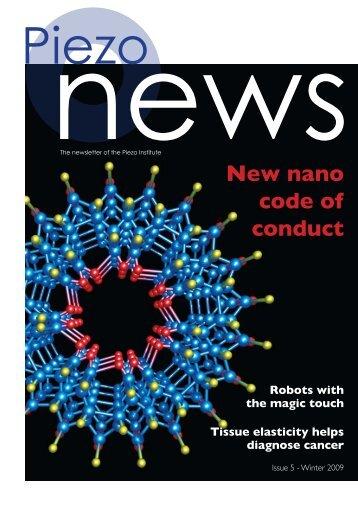 New nano code of conduct - Piezo Institute