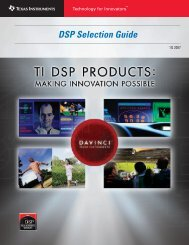 DSP Selection Guide