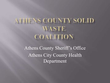 Mike Cooper – Athens City-County Health Department - Rural Action