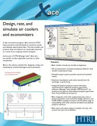 Design, rate, and simulate air coolers and economizers - Htri