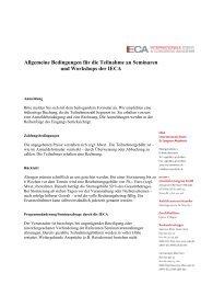 Allgemeine Bedingungen für die Teilnahme an ... - IECA-Mannheim