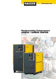 Reciprocating Compressors AIRBOX / AIRBOX CENTER