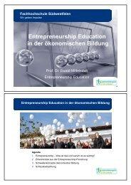 Entrepreneurship Education in der ökonomischen Bildung: Folien ...