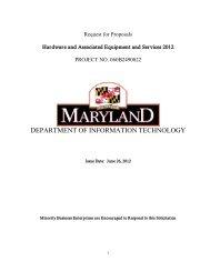 060B2490022 Hardware 2012 RFP - DoIT Website - Maryland.gov