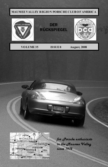 Volume 35 Issue 8, August 2008 - Maumee Valley - Porsche Club of ...