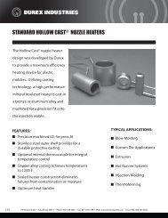 STANDARD HOLLOW CAST NOZZLE HEATERS - Durex Industries