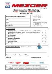 Kostenfreier Fax-Abholauftrag - mezger