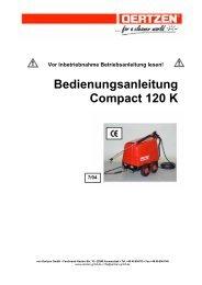 Bedienungsanleitung Compact 120 K - von Oertzen GmbH