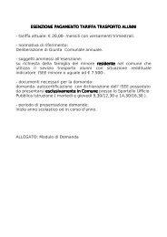 Modulo esenzione tariffa trasporto alunni - Comune di Finale Ligure