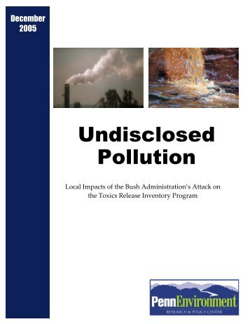 Undisclosed Pollution - Public Interest Network