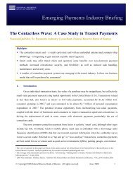 The Contactless Wave: A Case Study in Transit Payments