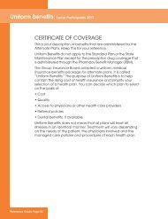 CERTIFICATE OF COVERAGE - Unity Health Insurance