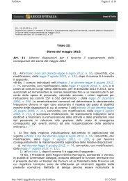 Decreto Legge n. 174 del 10 ottobre 2012