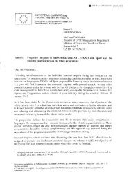EUROPEAN COMMISSION Brussels, Ms Hana Podubecka Director ...