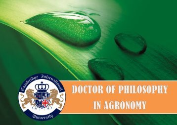 Doctor of Philosophy in Agronomy