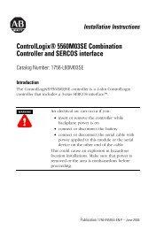 1756-IN593A-EN-P, ControlLogix 5560M03SE ... - Cours par sigle