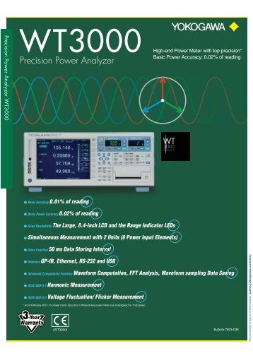 Precision Power Analyzer WT3000 - UPC