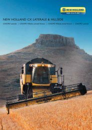 NEW HOLLAND CX LATERALE & HILLSIDE