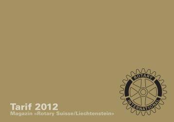 Tarif 2012 - Rotary Schweiz