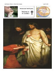St. Cecilia's - Readings for July 8 - Monday of the Fourteenth Week ...