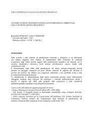 XXII CONFERENZA ITALIANA DI SCIENZE REGIONALI ... - Planeco