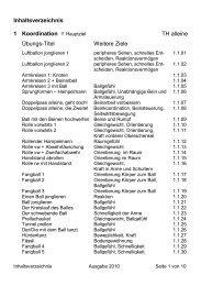 2.1 Inhaltsverzeichnis Übungen - HC Bruggen