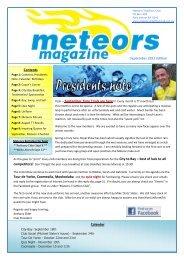 Contents Calender September 2011 Edition - Meteors Triathlon Club