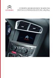 Installationsleitfaden für die Systeme Citroen ... - Navigation.com