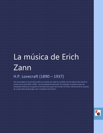 La música de Erich Zann - Descarga Ebooks