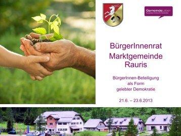 Buergerrat Beilage - WGR - Rauris