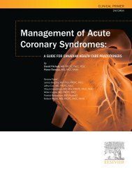 Management of ACS: A Clinical Primer - Acute Coronary Syndromes ...