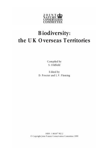 Biodiversity: the UK Overseas Territories - WIDECAST