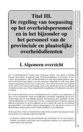 Titel III. De regeling van toepassing op het - FOD Sociale Zekerheid