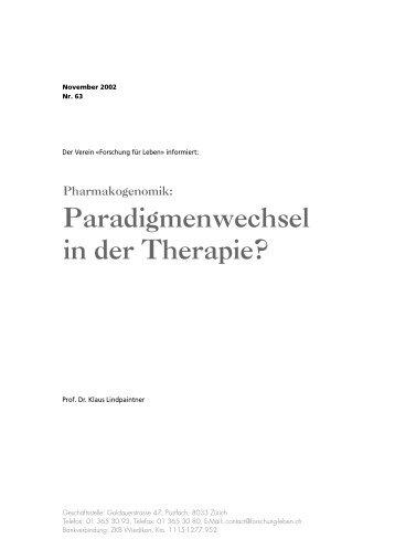 Pharmakogenomik - Forschung für Leben