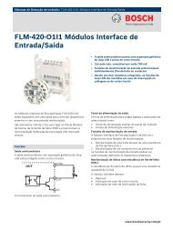 FLM‑420‑O1I1 Módulos Interface de Entrada/Saída - Alarmes Tucano