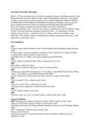 Scarica la biografia e il CV dell'artista - artfirst Bologna geoblog