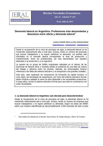 Demanda laboral en Argentina - IERAL