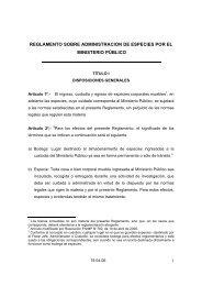 reglamento sobre administracion de especies por el ministerio público