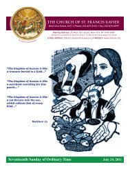 Seventeenth Sunday of Ordinary Time - Church of St. Francis Xavier