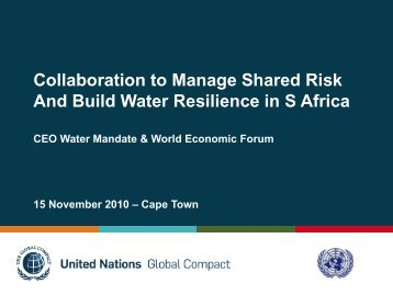Gavin Power (Mon) - UN CEO Water Mandate