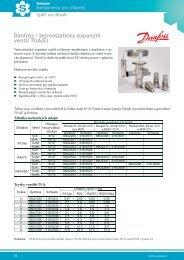 Danfoss - termostatický expanzní ventil TUA(E)