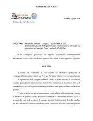 RISOLUZIONE N. 67/E Roma,6 luglio 2010 OGGETTO - Il Sole 24 Ore