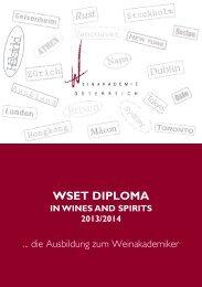Diploma-Folder 2013/14 - Weinakademie Österreich