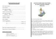 Papanui Baptism Leaflet.pdf - Catholic Diocese of Christchurch