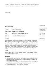 Referat fra centermøde 4.2.05 - Center for Boligforskning