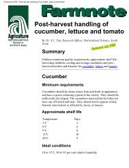 Post-harvest handling of cucumber, lettuce and tomato