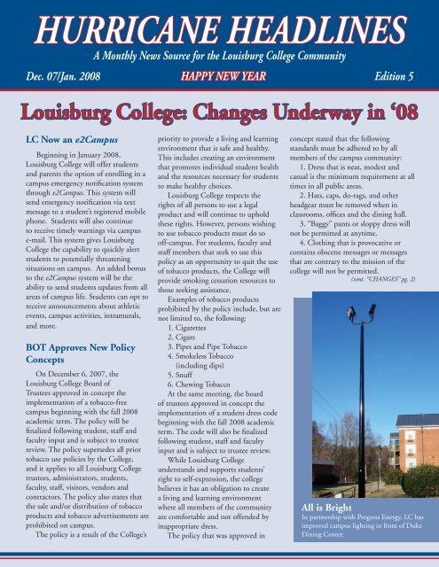 HURRICANE HEADLINES - Louisburg College