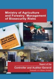 Management of Biosecurity Risks - Office of the Auditor-General ...